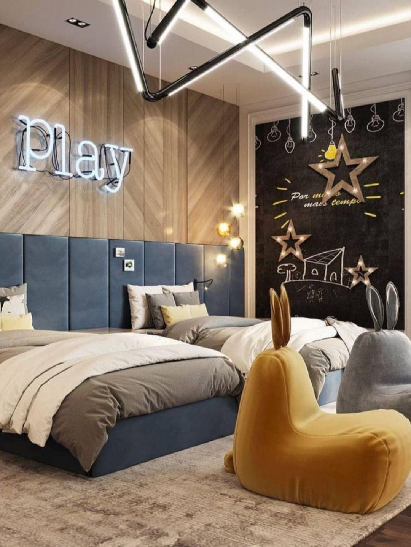 Pantone 2021 Illuminating Yellow And Ultimate Gray Kids Bedroom Inspiration Kids Interior Design Kids Interior Room Kids room design 2021