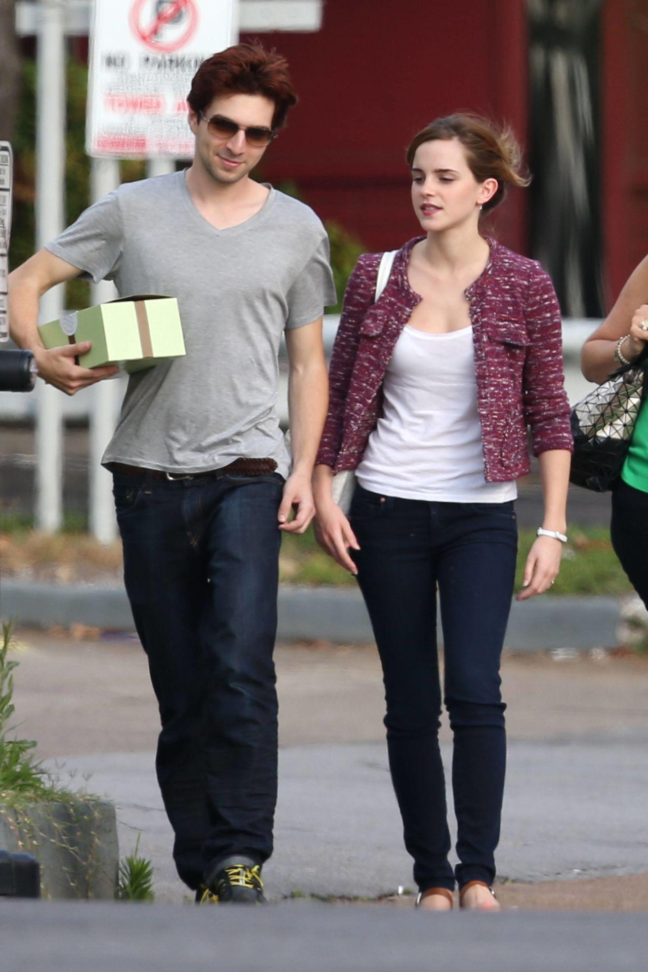 Emma Watson With Her Friend Roberto Aguirre In Nashville