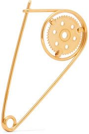 Gold-plated brooch