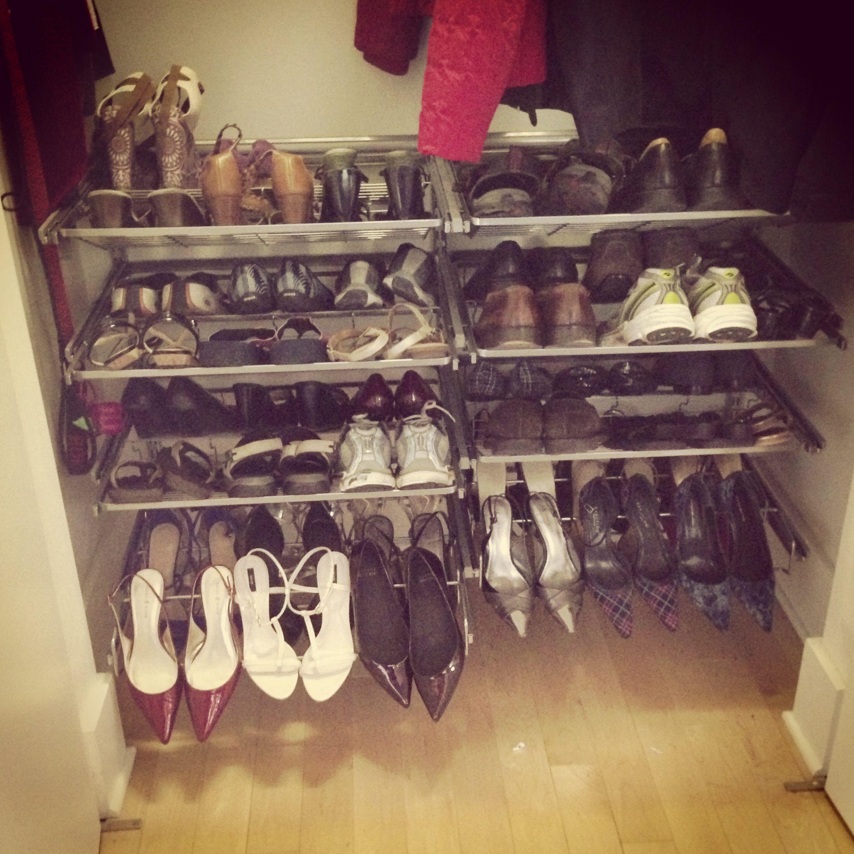 ELFA slide out shoe rack Organization