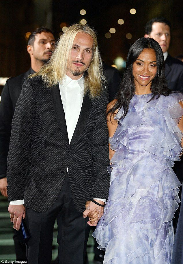 Cute couple  Zoe Saldana attended with her husband of four years Marco  Perego. fb9146accf3