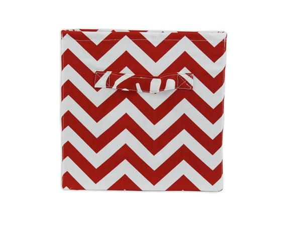 Red And White Zig Zag Storage Bin From Brite Ideas Living   Shop At Www.
