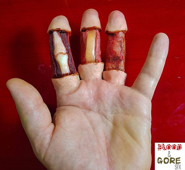 Finger Anatomy. Index finger is exposed bone middle finger is a ...