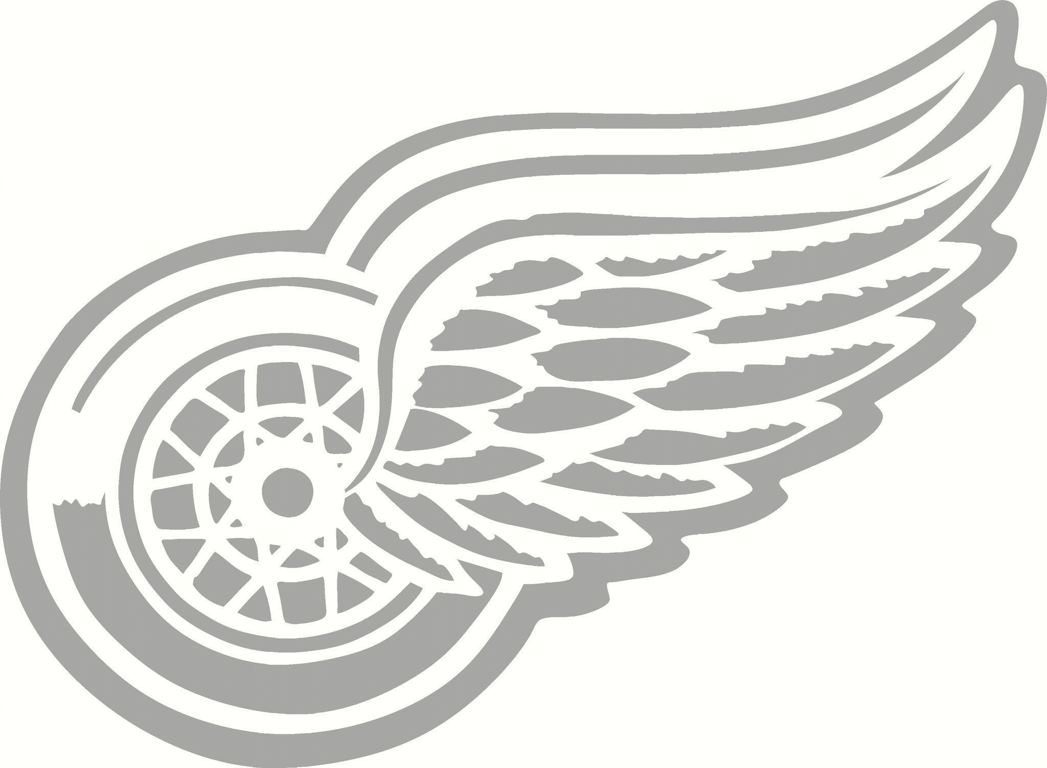 Red Wings LOGO Vinyl Cut Out Decal