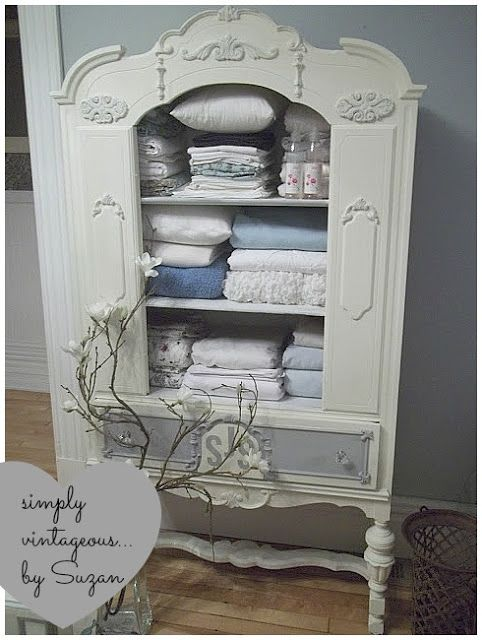 Antique China Cabinet To Linen Chest Vintage Furniture Diy