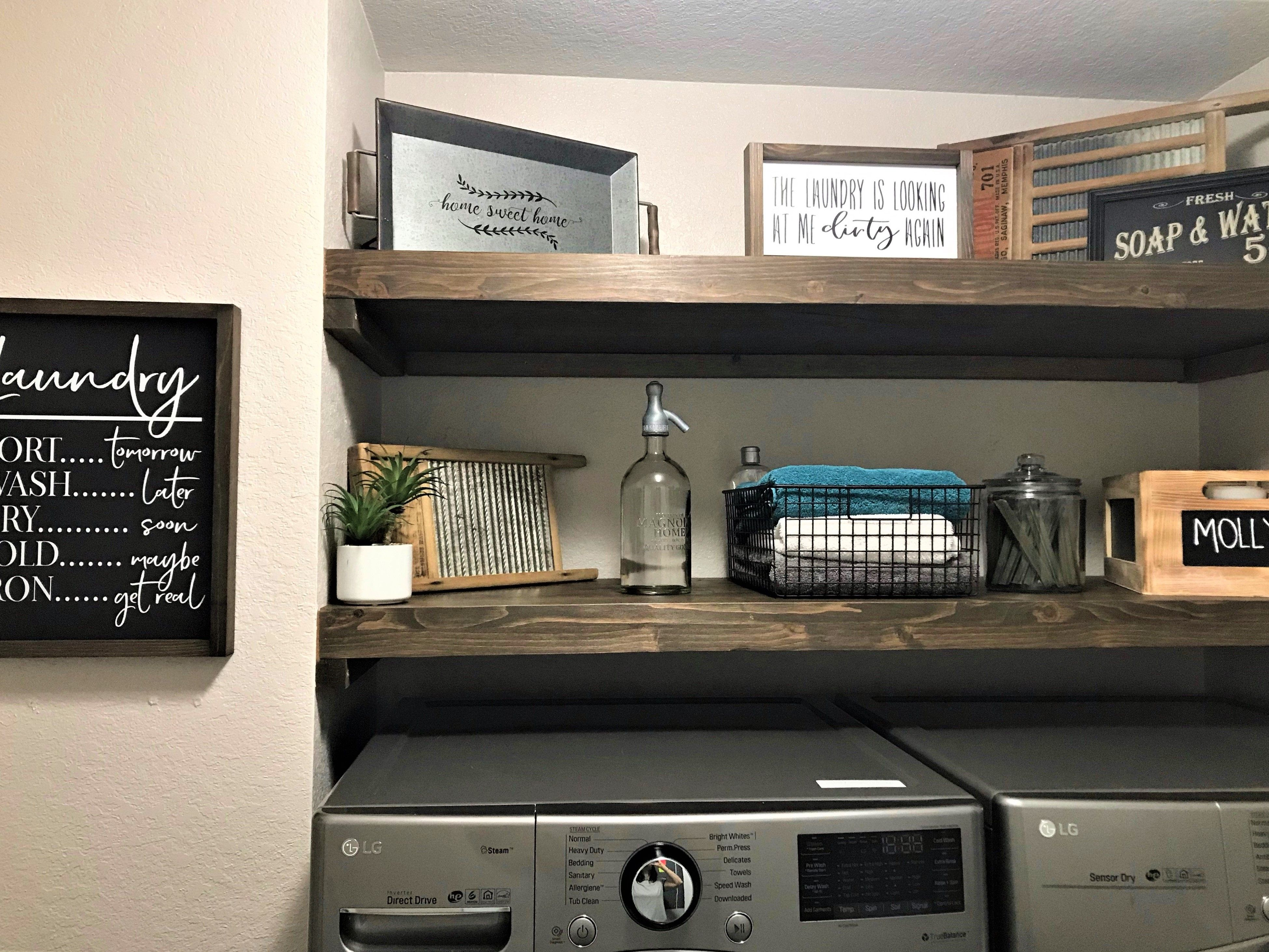 2 5 Thick Floating Shelf With Images Farmhouse Shelves Wood