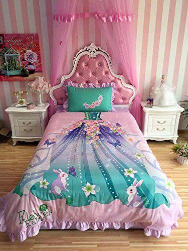 Sisbay Fashion Flower Fairy Princess, Fairy Princess Twin Bedding