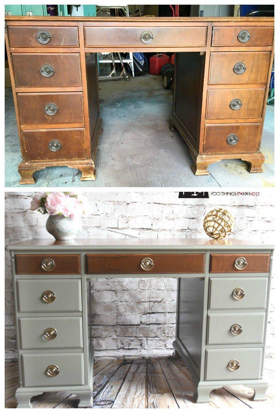 Antique Desk Makeover Cheap Furniture Makeover Desk Makeover
