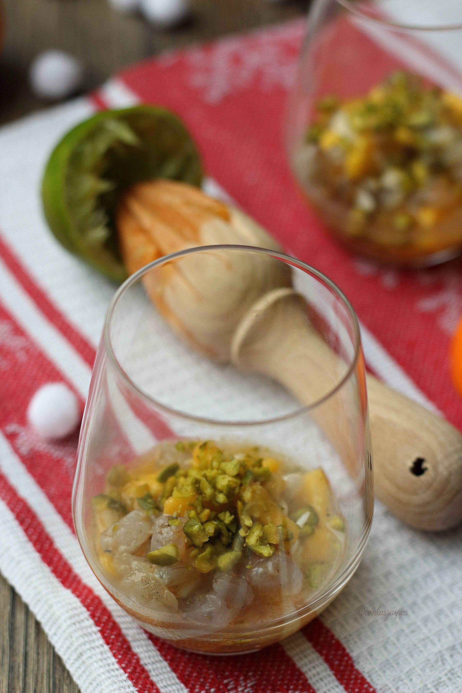 Tartar de langostinos, mango y pistachos {by Paula, Con las Zarpas en la Masa}hos3