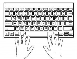 coloring pages keyboard computer | Computer Keyboard Coloring Pages to Print | 3 Technology ...