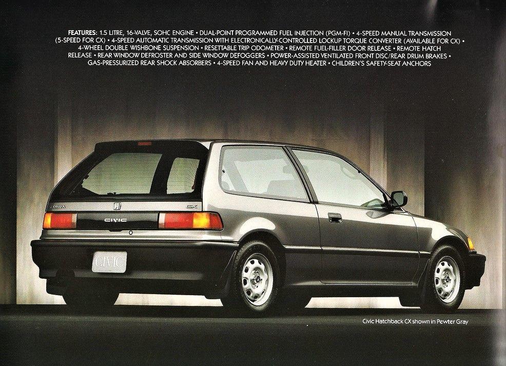 Honda Civic Hatchback 1989 1991 Honda Civic Civic Hatchback Honda Civic Si