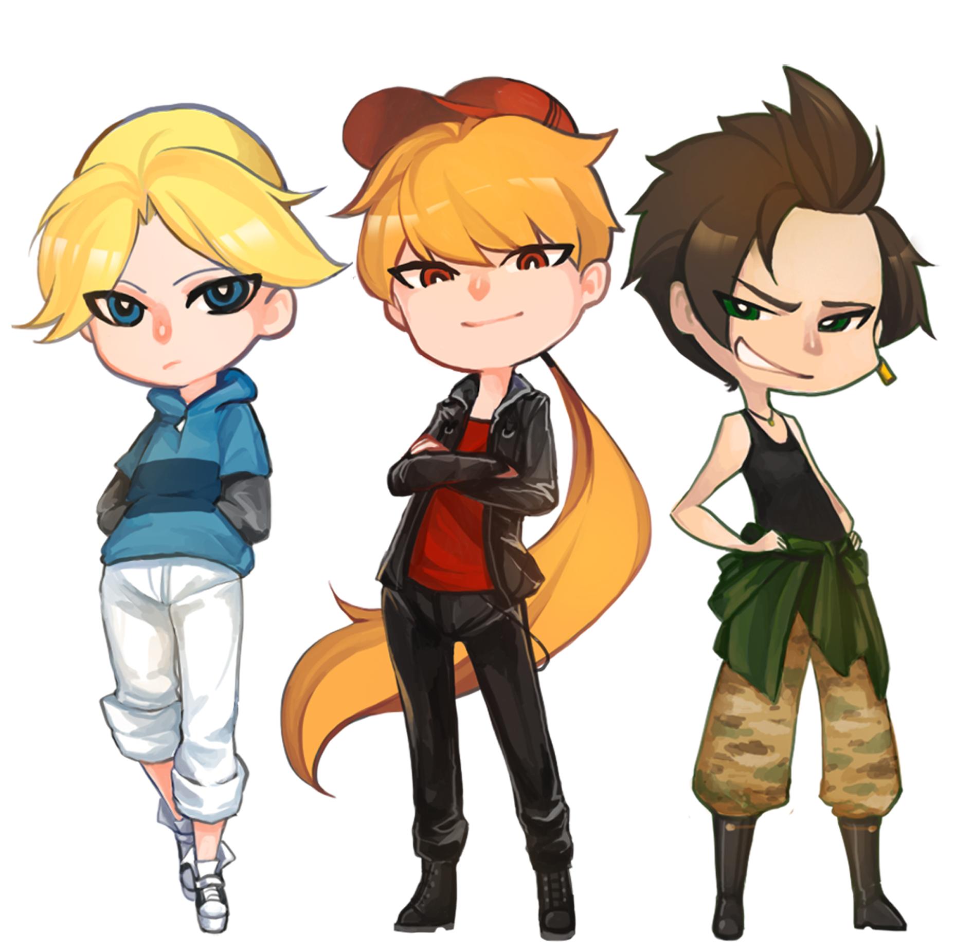 Super Y Cartoon Characters : Boomer brick and butch powerpuff girls cartoon