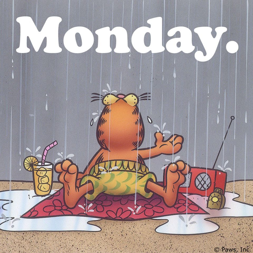 Monday. Garfield & Odie Pinterest Mondays