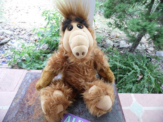 Alf Stuffed Plush 19 He Talks:  Alf You're out by AuntSistersPicks
