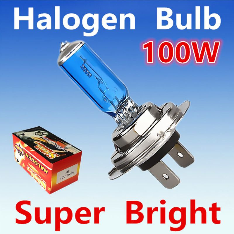2pcs H7 100w 12v Halogen Bulb Super White Fog Lights High Power 55w Car Headlight Lamp Car Light Source Parking Auto Ye Car Headlights Car Lights Halogen Bulbs