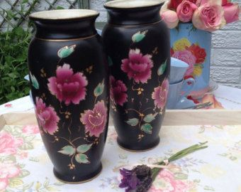 Antique Hand Painted Vases Made By Foch