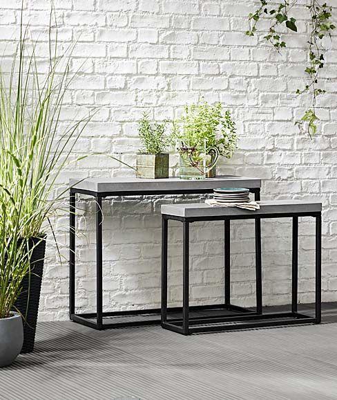 Gartenmobel Pavillons Und Sonnenschirme Jetzt Bei Tchibo Konsolen Tisch Konsolentisch Ikea Gartentisch