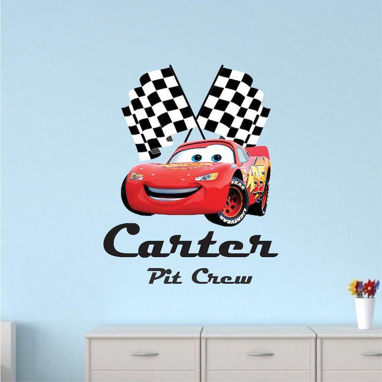 Red Ferrari Race Car For Boys Room Toddler Rooms Disney Cars