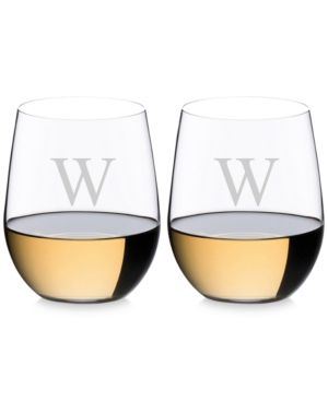 Riedel O Monogram Collection 2-Pc. Block Letter Chardonnay Stemless Wine Glasses - A
