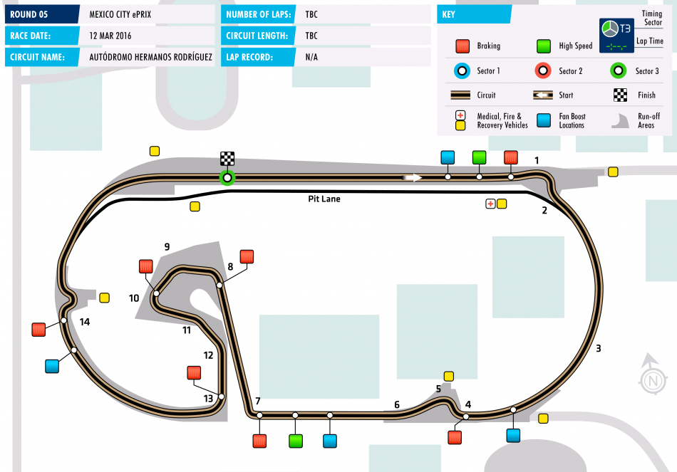 Mexico City Eprix Circuit Map Circuit Slot Racing Map