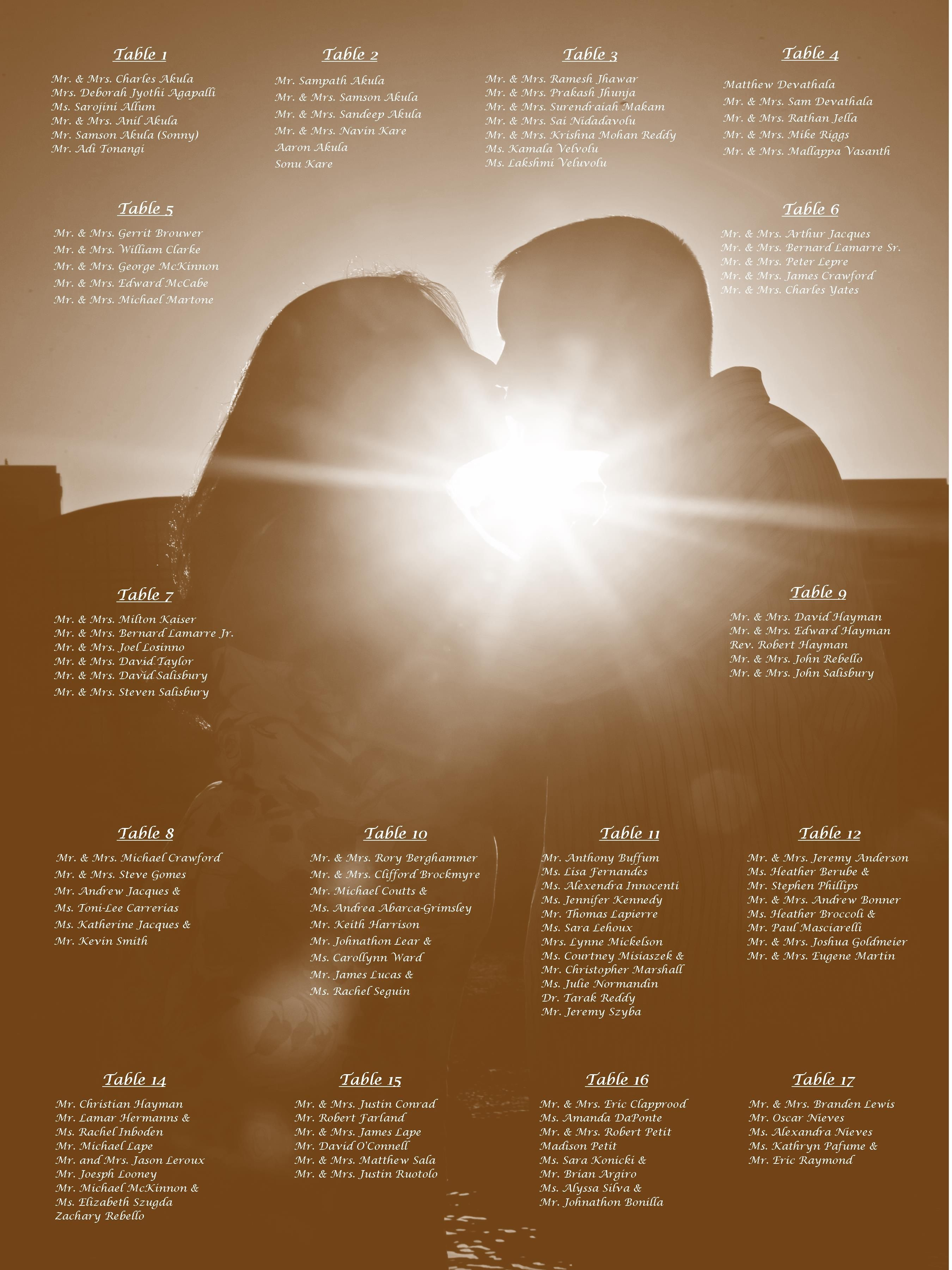 Wedding Seating Chart I Did This For My Sisters Wedding I Took One