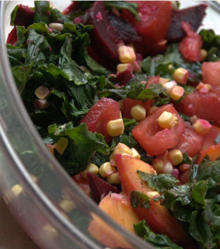 Late summer massaged kale salad   Recipe   Kale salad ...