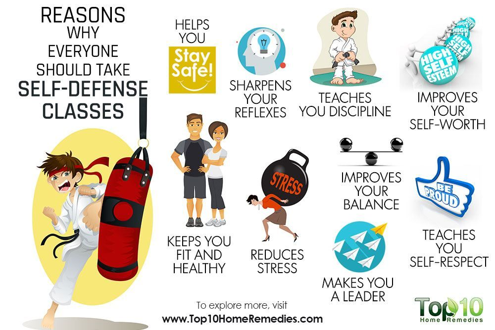 reasons why everyone should take self defense classes