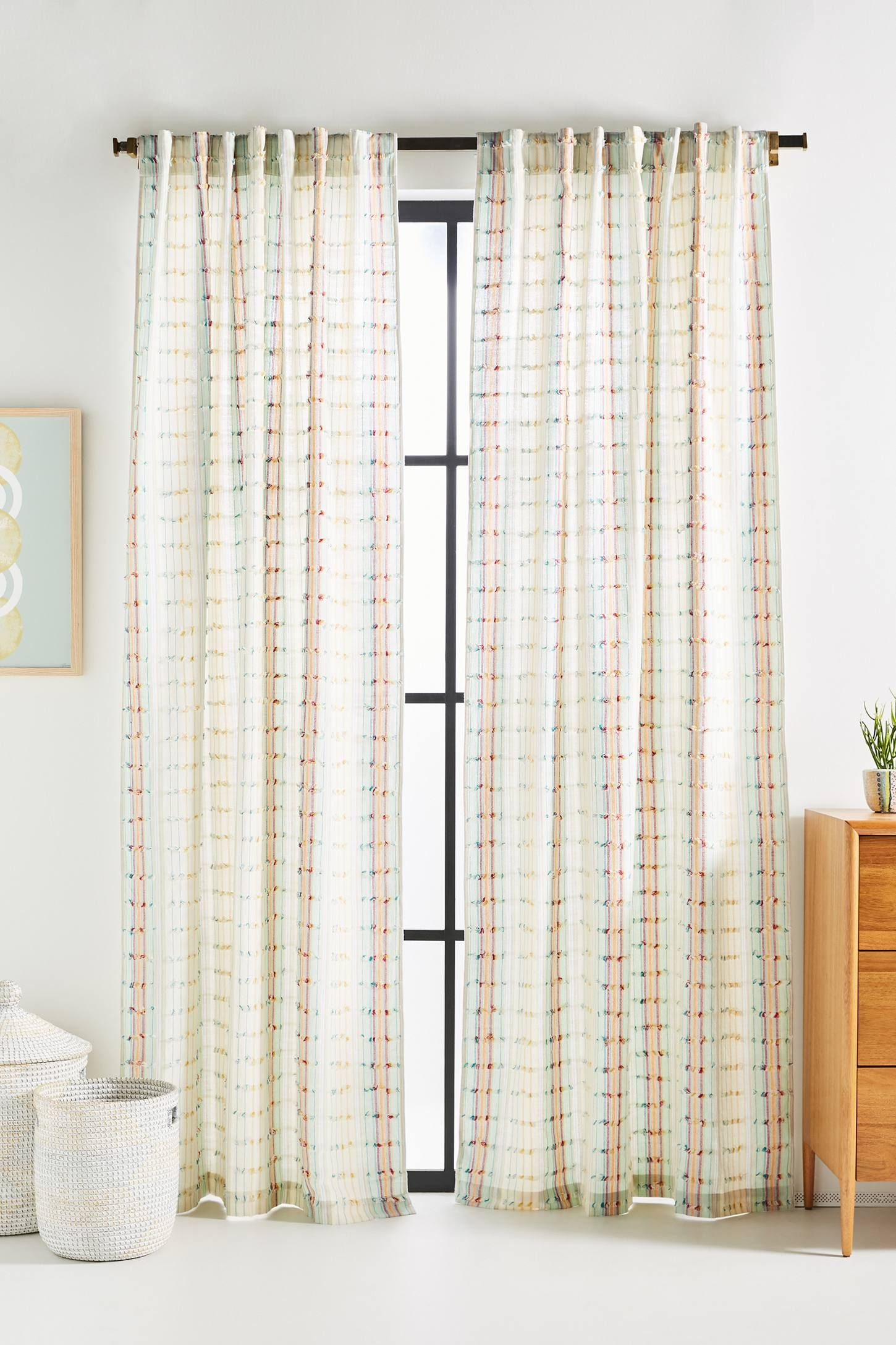 Woven Sonia Curtain Curtains Drapes And Blinds Tassel Curtains