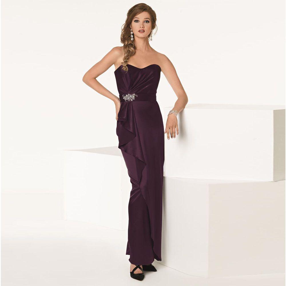 Click to buy ucuc robe demoiselle duhonneur purple long sweetheart