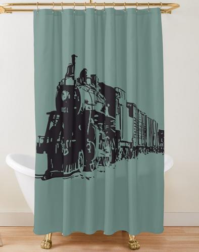 Steam Train Sketch Shower Curtain By Azule1 Train Sketch