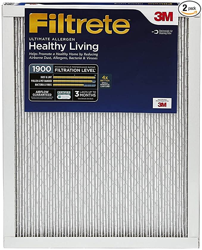 Filtrete MPR 1900 14x24x1 AC Furnace Air Filter, Healthy