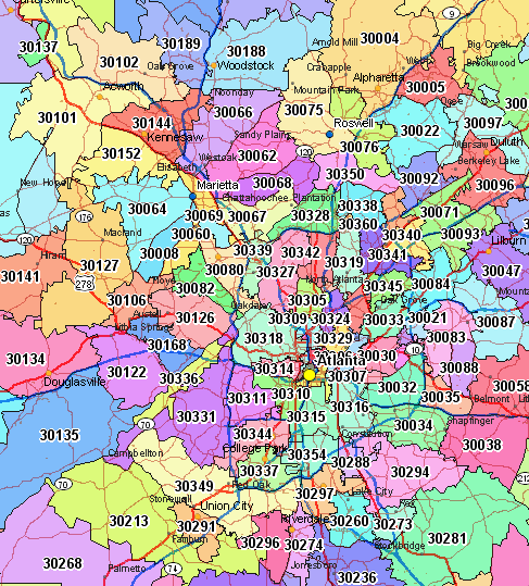 metro atlanta zip code map Google Search in 2019 Zip
