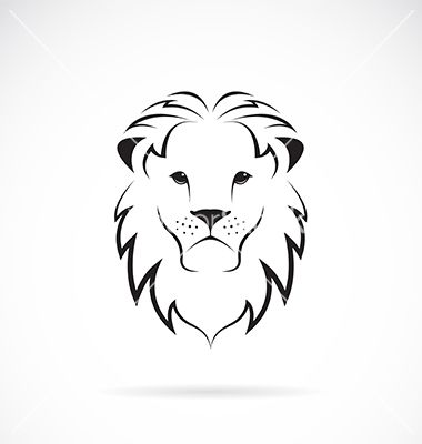 lion head silhouette vector images over 290 vectorstock lions pinterest lions. Black Bedroom Furniture Sets. Home Design Ideas
