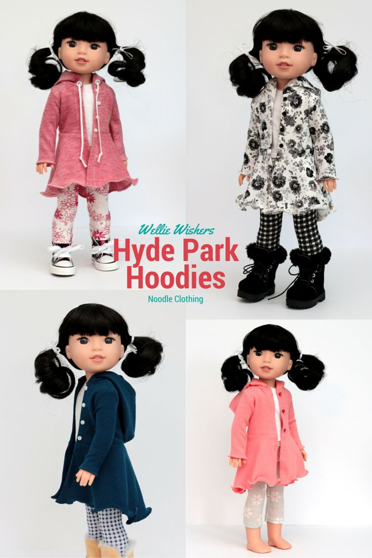 Wellie Wishers Clothing PDF Pattern. Hyde Park Hoodie for 14.5 inch ...