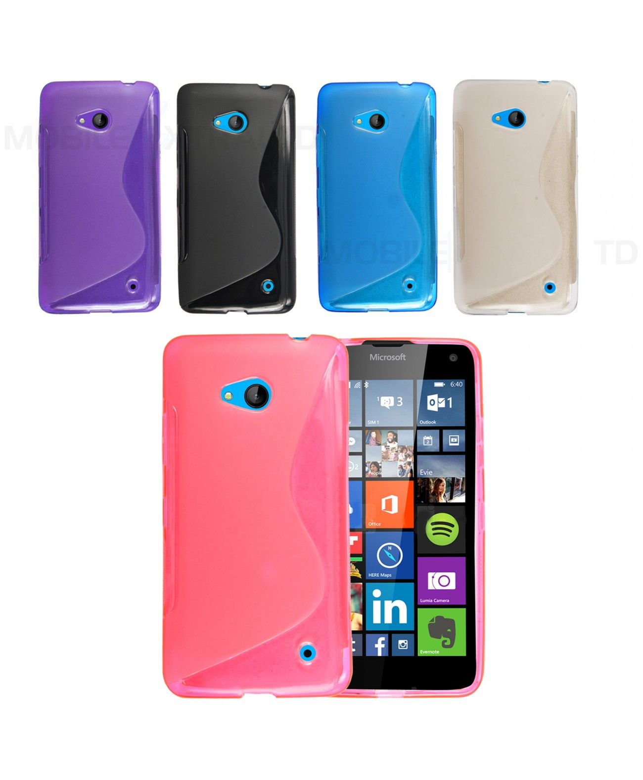 NEW ULTRA THIN SOFT BACK SKIN FITTED S-LINE WAVE TPU GEL CASE COVER FOR MICROSOFT LUMIA 550....66245339872583