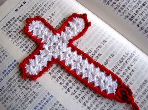 Freeeasycrochetbookmarkpatterns Crochet Cross Bookmark Pattern