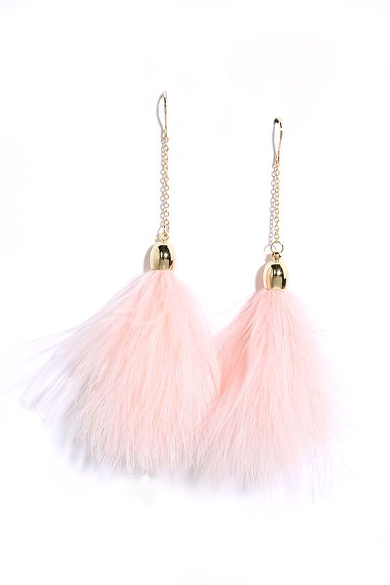 Flock Together Pink Feather Earrings