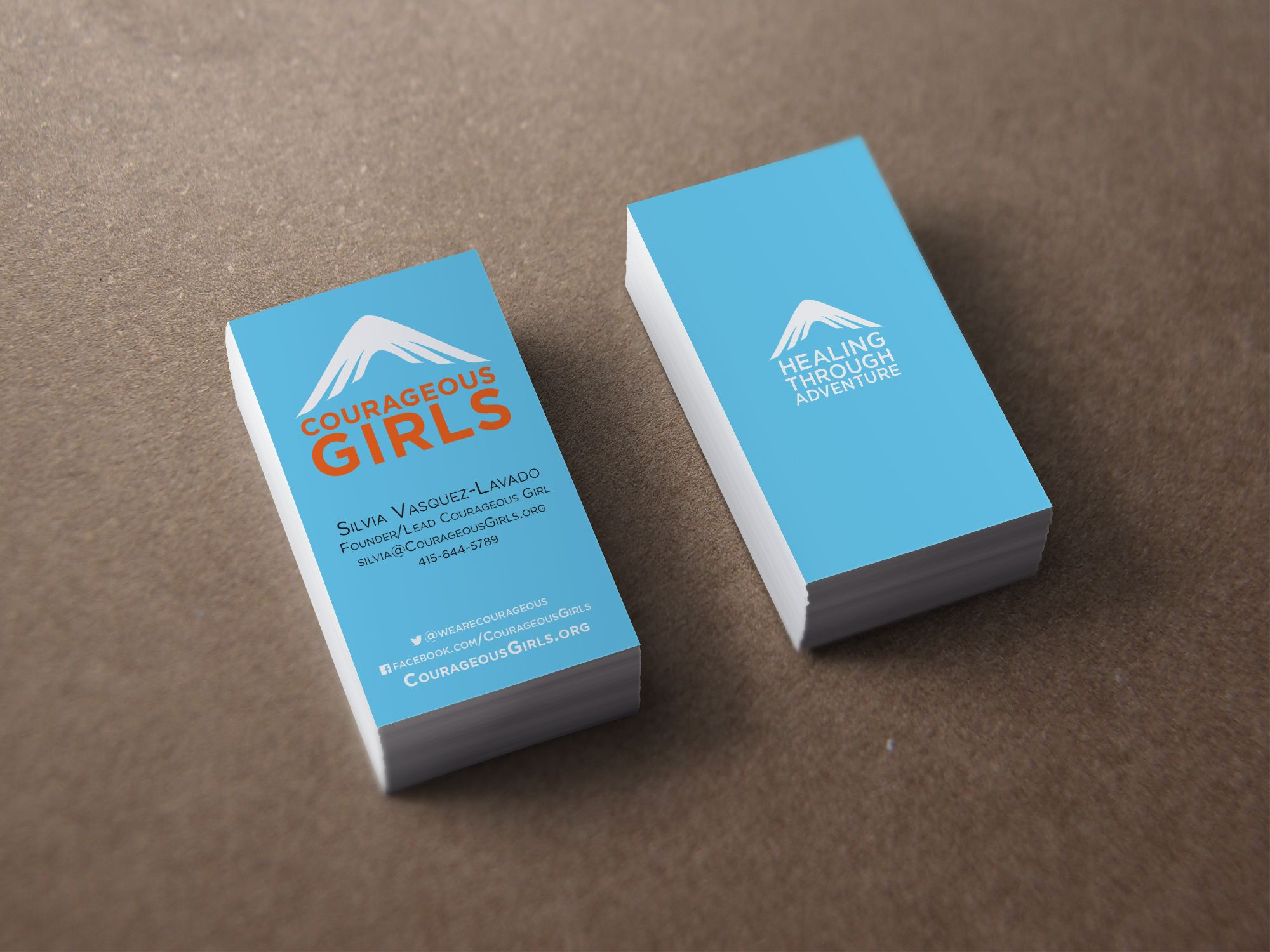 Business Cards For Courageousgirls Org An Organization The Helps