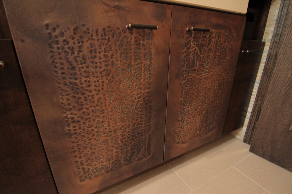 Distressed Copper Cabinet With Patina In 2020 Copper Distressed Cabinet