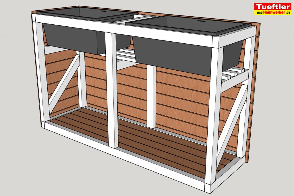 Hochbeet mit kombinierter Müllbox selber bauen – DIY Projekt