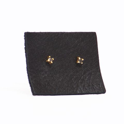 studs gold earrings stud il tiny listing white small diamond real