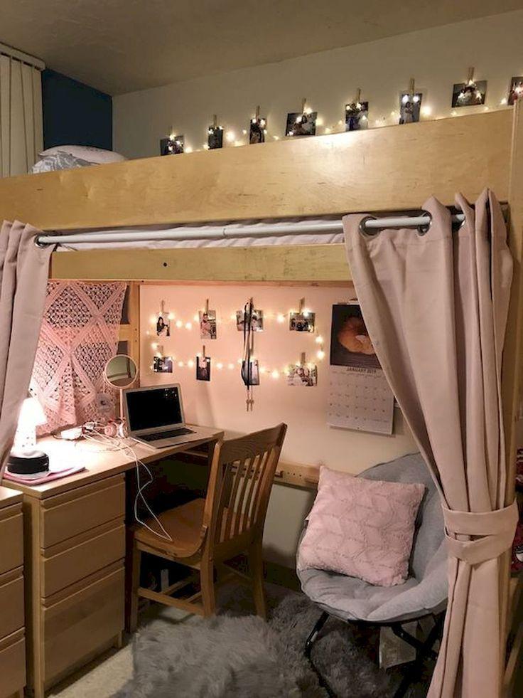 80 fantastische kleine Apartment Schlafzimmer College Design-Ideen und Dekor #collegedormrooms