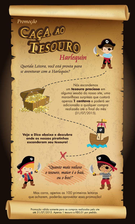 Conhecido Promoção Caça ao Tesouro Harlequin | Dia criança | Pinterest  FS21