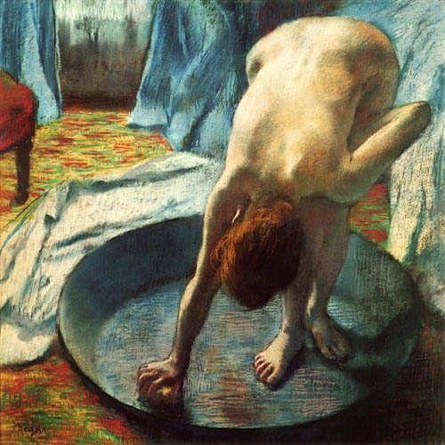 Degas - nu de femme à sa toilette