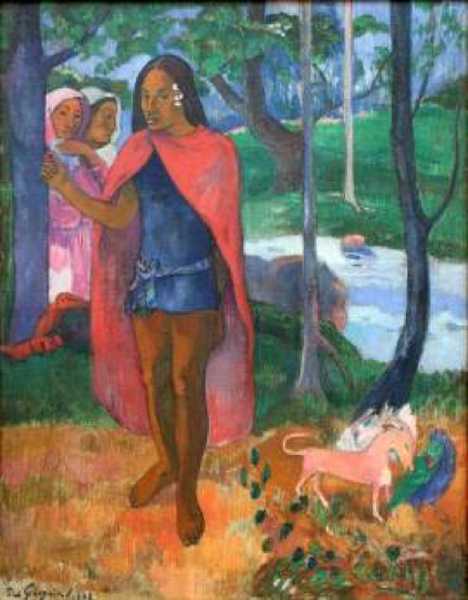 Paul Gauguin - Le sorcier d'Hiva Oa, 1902 MAMAC Liège  #Exhibition #Art #Painter #Gauguin #Painting #Liege #LaBoverie #Belgium