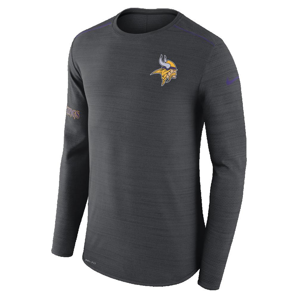 Nike Player (NFL Vikings) Men s Long Sleeve Top Size Medium (Black ... c64e32909