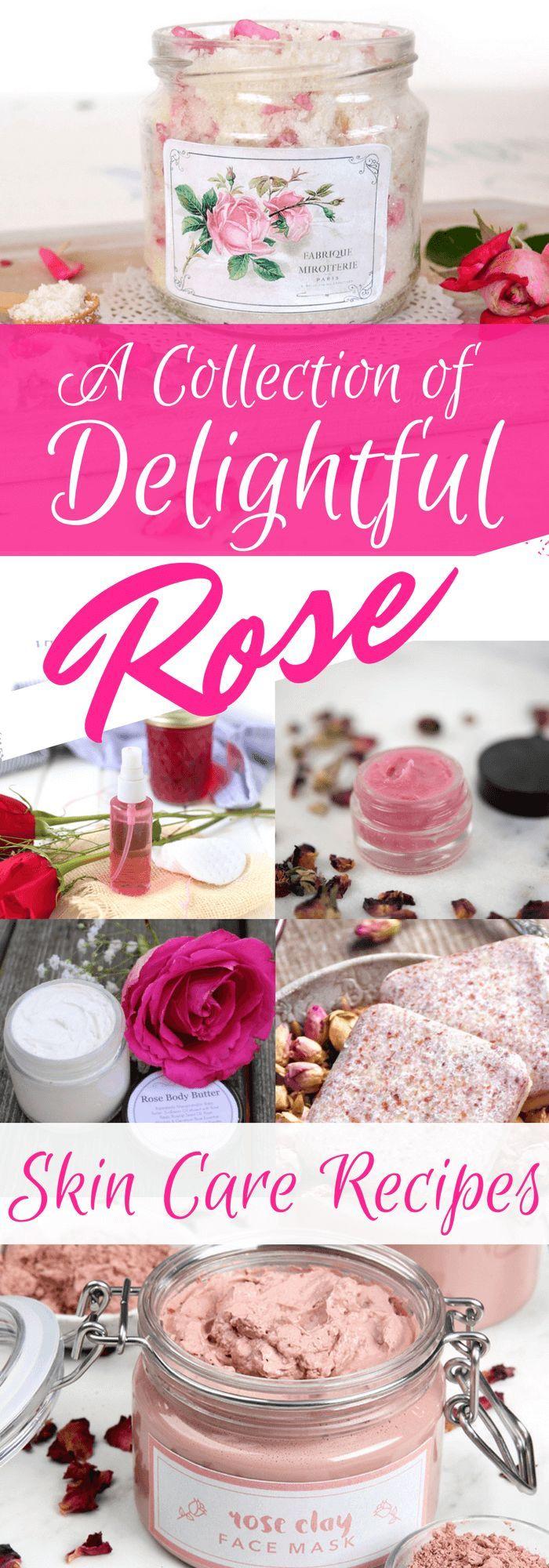 12 Delightful DIY Rose Skin Care Recipes  Rose skincare, Diy