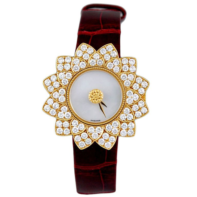 643ec2268e8 BUCCELLATI DIamond Mother Pearl Watch. Pedras