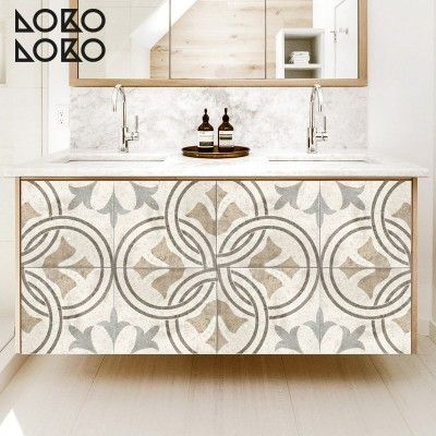 Vinilo para forrar muebles de cuarto de baño con impresión ...