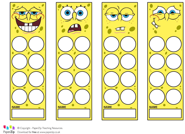Paperzip Classroom Rewards Spongebob Reward